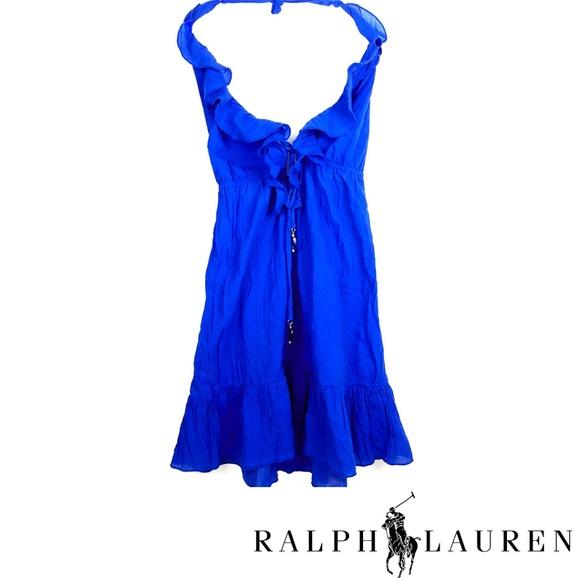 Ralph Lauren Dresses & Skirts - NWT Ralph Lauren Beautiful Blue Halter Dress
